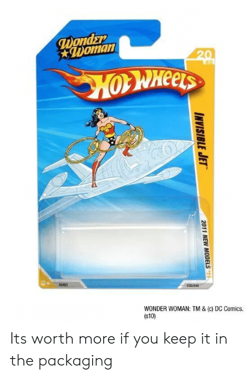 Wonder Woman, DC Comics, and Wonder: Doman  Heels  WONDER WOMAN: TM & (c) DC Comics.  (s10) Its worth more if you keep it in the packaging