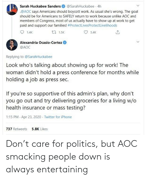 aoc: Don't care for politics, but AOC smacking people down is always entertaining