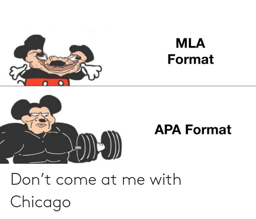 Chicago: Don't come at me with Chicago