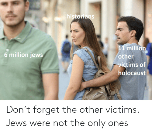 Only: Don't forget the other victims. Jews were not the only ones
