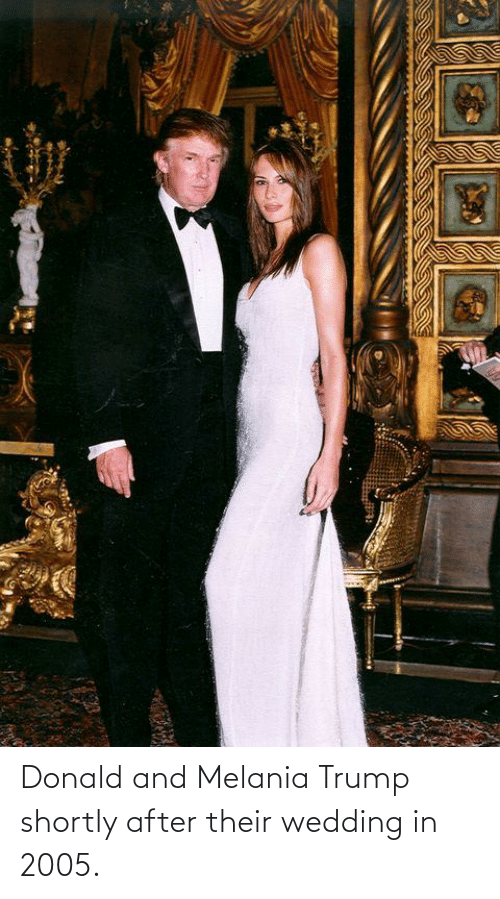 Melania: Donald and Melania Trump shortly after their wedding in 2005.
