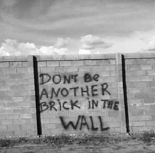 Wall,  Dont, and Dont-Be: DONT Be  AMOTHER  WALL