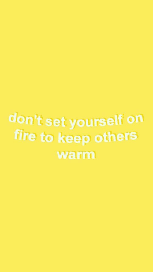 Fire, Set, and Warm: don't set yourself on  fire to keep others  warm