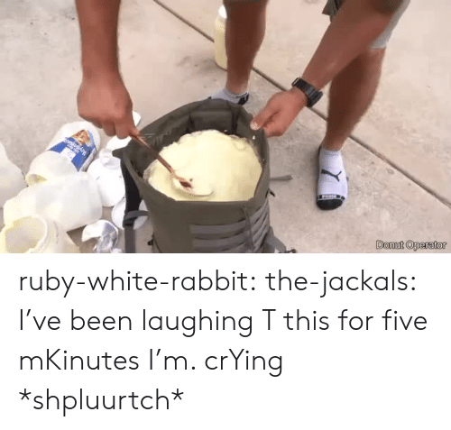 Operator: Donut Operator ruby-white-rabbit: the-jackals:  I've been laughing T this for five mKinutes I'm. crYing  *shpluurtch*