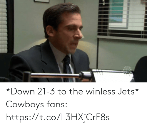 Dallas Cowboys, Football, and Nfl: *Down 21-3 to the winless Jets*  Cowboys fans: https://t.co/L3HXjCrF8s