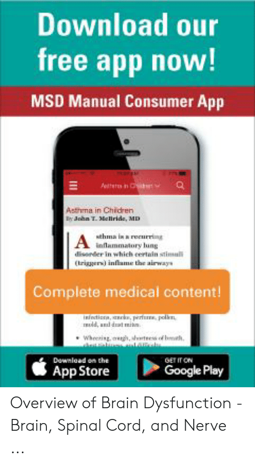 Download Our Free App Now! MSD Manual Consumer App Atr