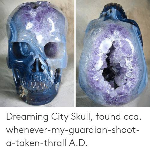 thrall: Dreaming City Skull, found cca. whenever-my-guardian-shoot-a-taken-thrall A.D.