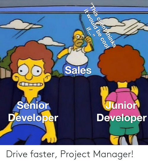 faster: Drive faster, Project Manager!