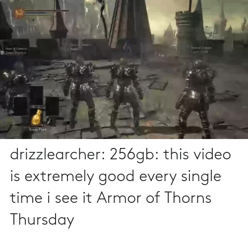See It: drizzlearcher:  256gb: this video is extremely good every single time i see it   Armor of Thorns Thursday