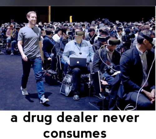 Drug dealer: drug dealer never  consumes