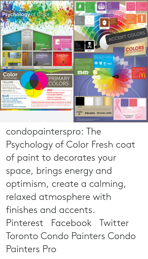 """Candy, Crying, and Drunk: drunk tank pink""""b』color  use in prisons to initialy  calm inmates  Workers in green  Many kings wore purple robes  the  GREEN  fewer stomach aches  PURPLE  PINK  Psychology of Co  lor  PINK  Aho used to draw  attention Signage  Geeat for creating the  Busion of space  . Earth  ORANGE  what colors  to paint your  home & why  GREEN  Girl's Room  ACCENT COLORS  Pink: Calming Warm  Evil  Death  Office  Blue: Most productive color  Bedroom  Green: Tranquility and Health  COLORS  IN ADVERTISING  Ancient Egvptians  believed that it symbol  ized Ide and rebirth  Living Room Dining Room  BLUE is often used in corporate  Lavender: Calms t  Kitchen 
