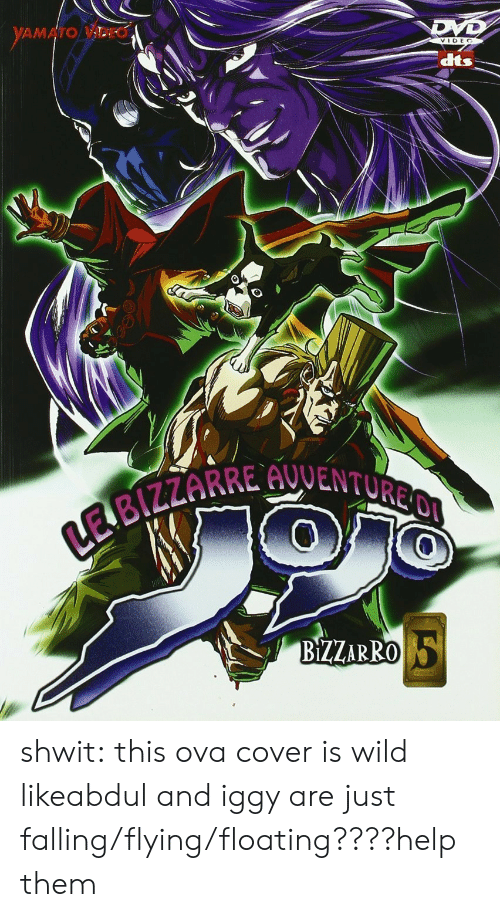 dts: dts  BZZARRO shwit:  this ova cover is wild likeabdul and iggy are just falling/flying/floating????help them