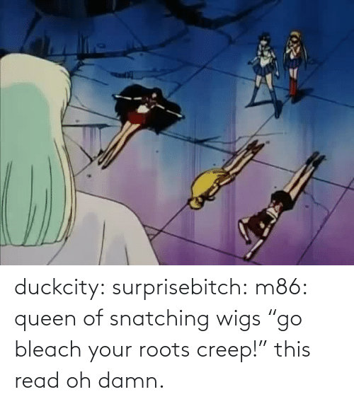 "Queen Of: duckcity:  surprisebitch: m86: queen of snatching wigs ""go bleach your roots creep!"" this read   oh damn."