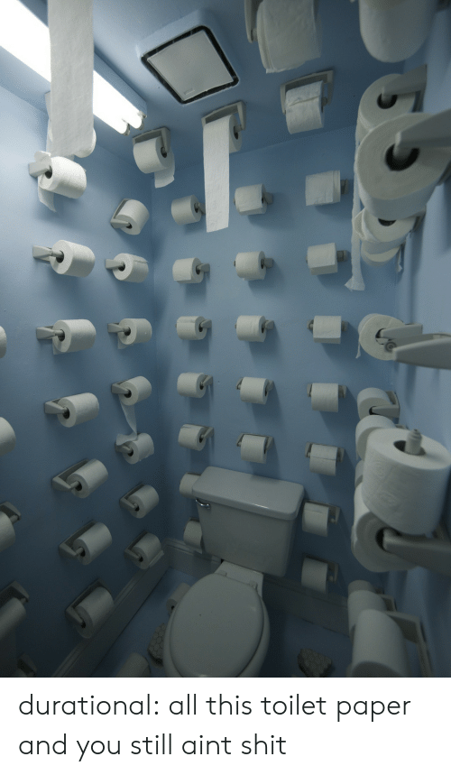 All This: durational:  all this toilet paper and you still aint shit