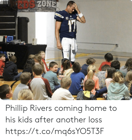 Coming Home: EADS ZONE  a  @nfirayinkle Phillip Rivers coming home to his kids after another loss https://t.co/mq6sYO5T3F