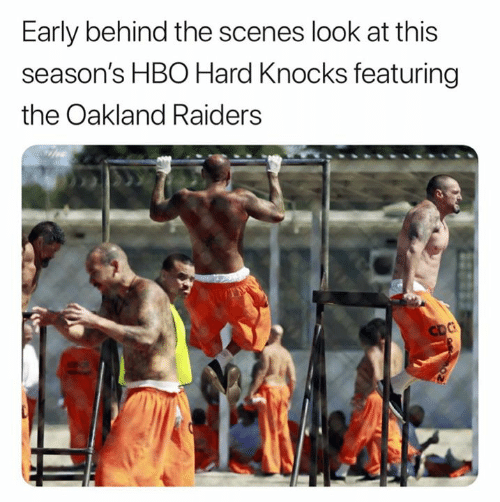 HBO: Early behind the scenes look at this  season's HBO Hard Knocks featuring  the Oakland Raiders  CDC