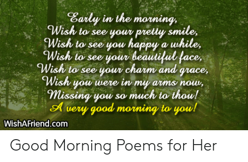 Your amazing poem for her