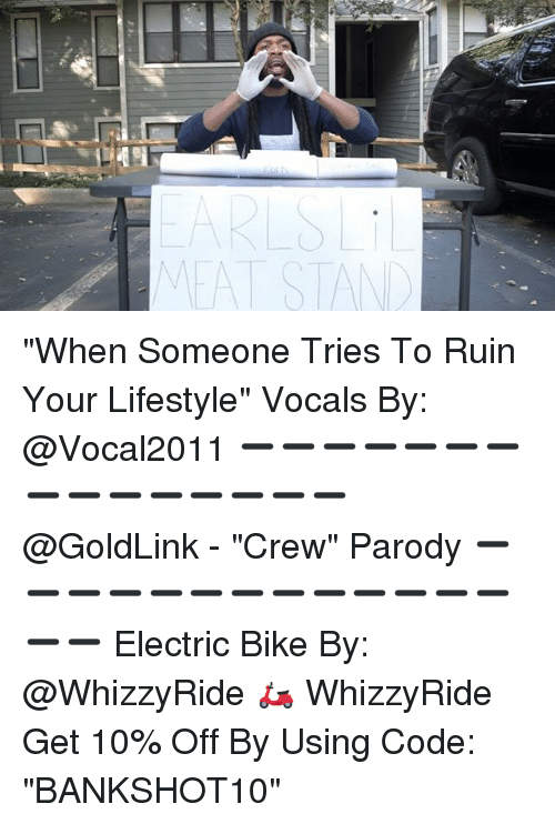 """Stans: EAT STAN """"When Someone Tries To Ruin Your Lifestyle"""" Vocals By: @Vocal2011 ➖➖➖➖➖➖➖➖➖➖➖➖➖➖➖ @GoldLink - """"Crew"""" Parody ➖➖➖➖➖➖➖➖➖➖➖➖➖➖➖ Electric Bike By: @WhizzyRide 🛵 WhizzyRide Get 10% Off By Using Code: """"BANKSHOT10"""""""