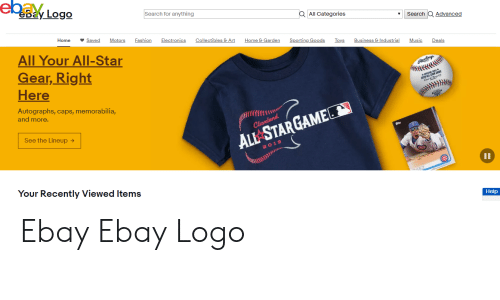 Ebay Ebay Logo Search For Anything Aall Categories Search Q Advanced Home Saved Motors Fashion Electronics Collectibles Art Home Garden Sporting Goods Toys Business Industrial Music Deals All Your