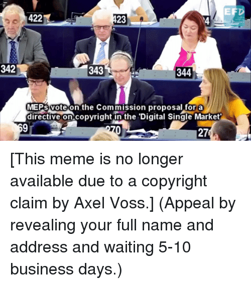 EF 422 23 4 342 343 344 MEPS Voteon the Commission Proposal for a