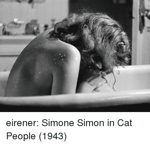 Tumblr, Blog, and Cat: eirener:  Simone Simon in Cat People (1943)