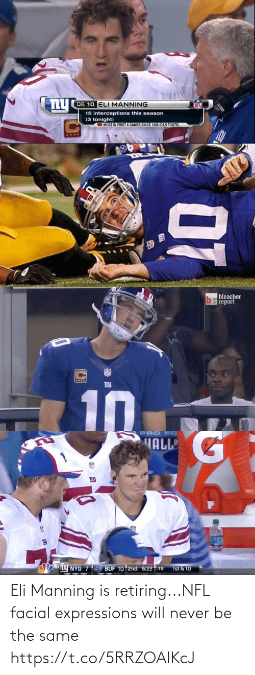 same: Eli Manning is retiring...NFL facial expressions will never be the same https://t.co/5RRZOAIKcJ