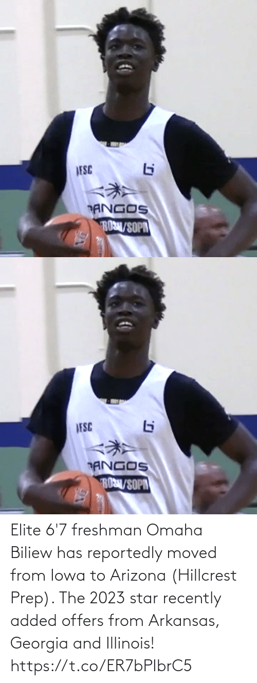 Arizona: Elite 6'7 freshman Omaha Biliew has reportedly moved from Iowa to Arizona (Hillcrest Prep). The 2023 star recently added offers from Arkansas, Georgia and Illinois! https://t.co/ER7bPIbrC5