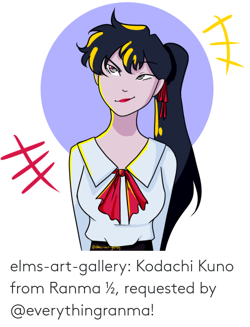 art: elms-art-gallery:  Kodachi Kuno from Ranma ½, requested by @everythingranma!