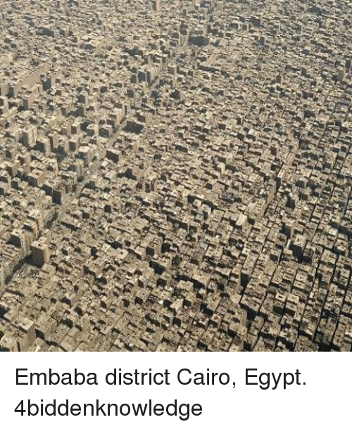 Egypte: Embaba district Cairo, Egypt. 4biddenknowledge