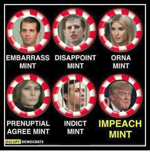 Occupy Democrats: EMBARRASS DISAPPOINT ORNA  MINT  MINT  MINT  PRENUPTIAL INDICT IMPEACH  AGREE MINT  MINT  MINT  OCCUPY  DEMOCRATS
