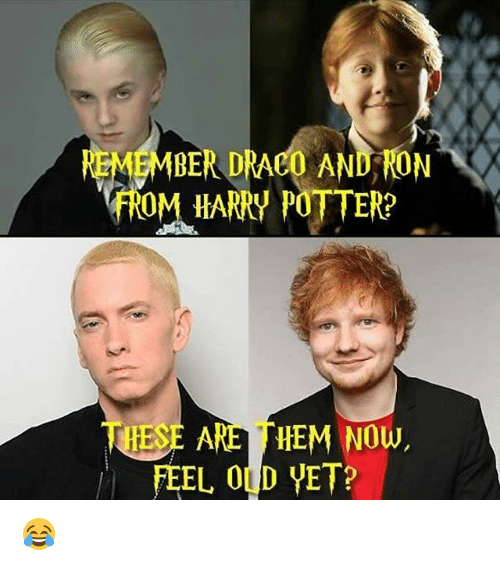Harry Potter, Old, and Hood: EMMBER DRACO AND RON  fROM HARRY POTTER?  HES  ARE HEM Now,  FEEL OLD VET? 😂