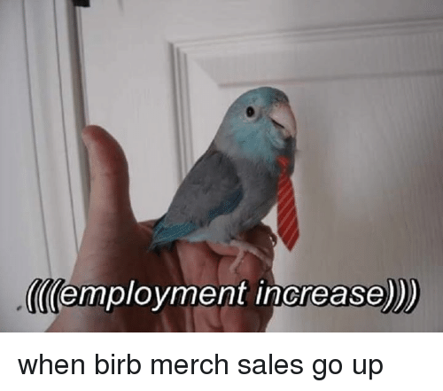 Sales, Employment, and Merch: employment increase when birb merch sales go up