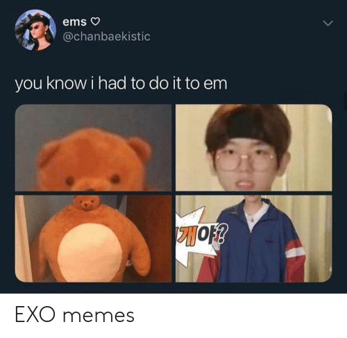 Memes, Exo, and Ems: ems o  @chanbaekistic  you know i had to do it to em EXO memes