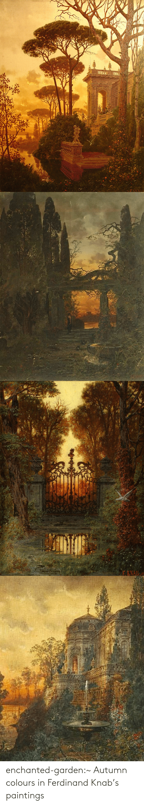 Paintings: enchanted-garden:~ Autumn colours in Ferdinand Knab's paintings