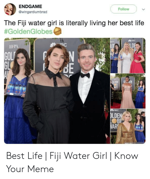 Endgame Follow The Fiji Water Girl Is Literally Living Her
