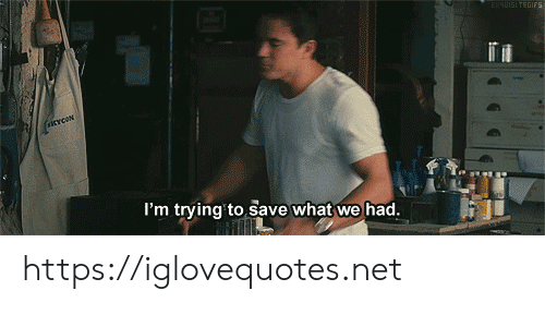 Net, What, and Href: ENEUISI TEGIES  sCYcON  I'm trying' to save what we had. https://iglovequotes.net