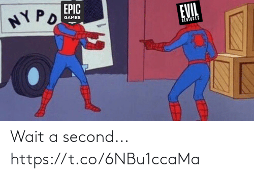 Memes, Games, and Evil: EPIC  NY PO  EVIL  GAMES  GEMSES Wait a second... https://t.co/6NBu1ccaMa