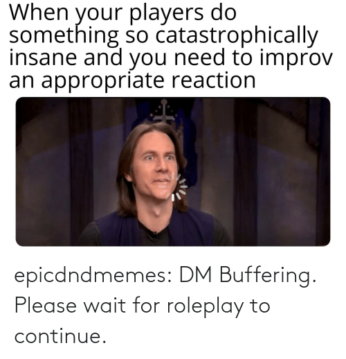 wait: epicdndmemes:  DM Buffering. Please wait for roleplay to continue.