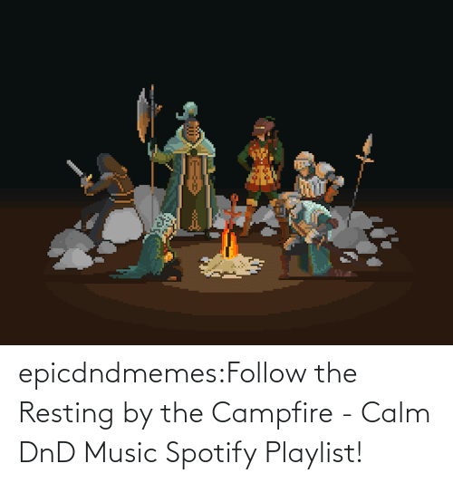 DnD: epicdndmemes:Follow the Resting by the Campfire - Calm DnD Music Spotify Playlist!