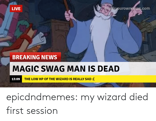 tumblr: epicdndmemes:  my wizard died first session