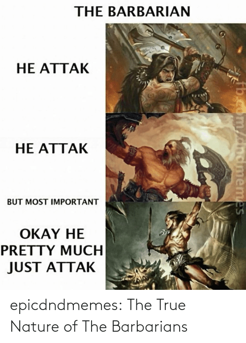 tumblr: epicdndmemes:  The True Nature of The Barbarians