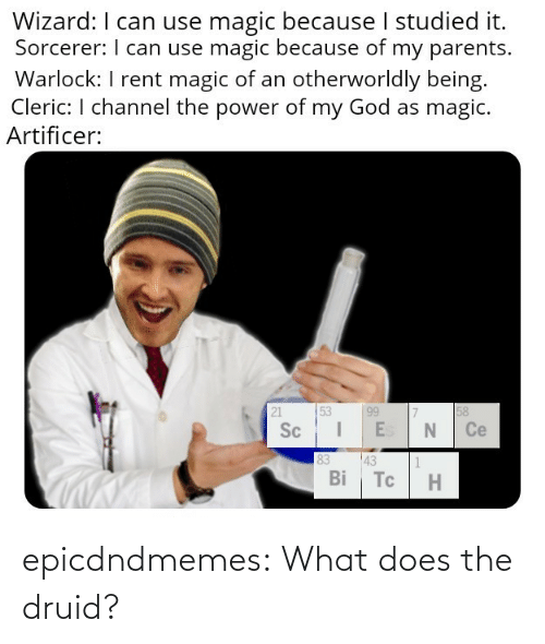 A: epicdndmemes:  What does the druid?