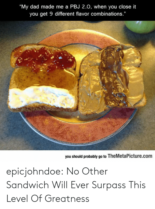 sandwich: epicjohndoe:  No Other Sandwich Will Ever Surpass This Level Of Greatness