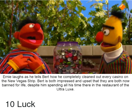 Ernie Laughs As He Tells Bert How He Completely Cleaned Out