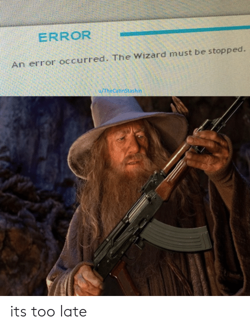 Wizard, Error, and The Wizard: ERROR  An error occurred. The Wizard must be stopped.  u/TheCatinStashin its too late