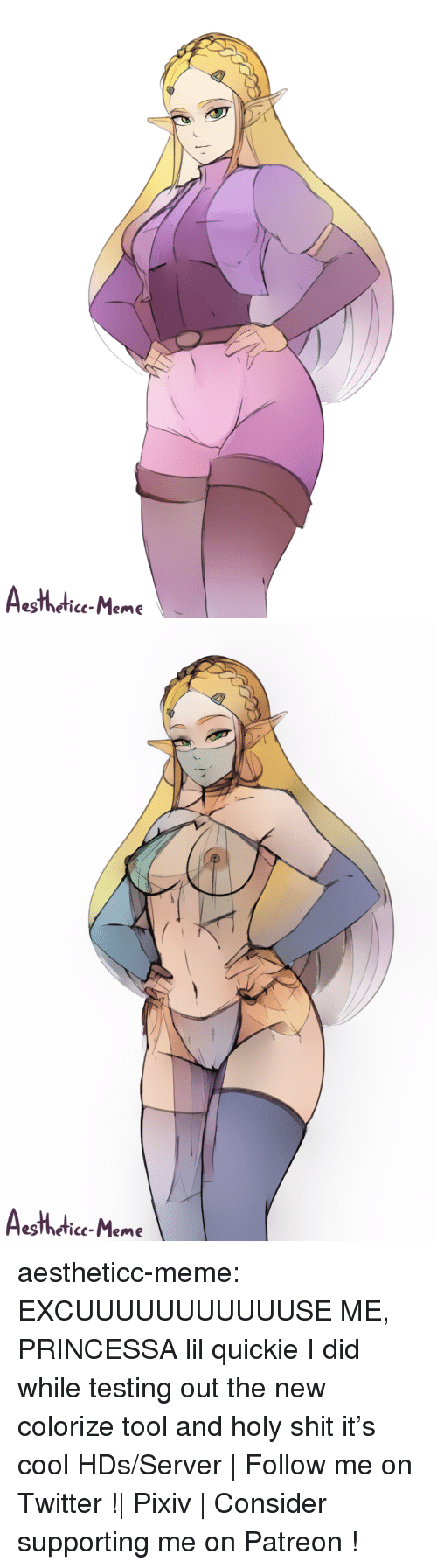 Meme Tumblr: eslheticc-Meme   eslheticc-Meme aestheticc-meme:  EXCUUUUUUUUUUUSE ME, PRINCESSA lil quickie I did while testing out the new colorize tool and holy shit it's cool  HDs/Server | Follow me on Twitter !| Pixiv | Consider supporting me on Patreon !