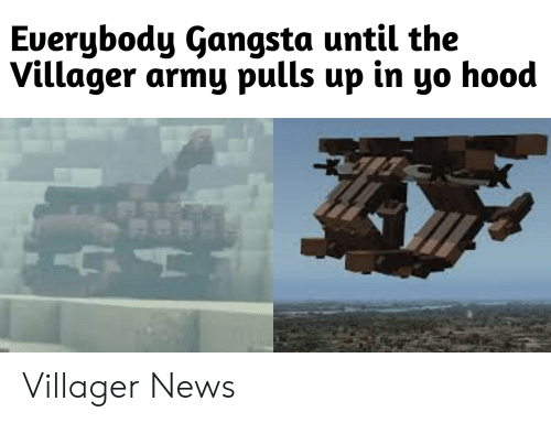Gangsta, News, and Yo: Euerybody Gangsta until the  Villager army pulls up in yo hood Villager News