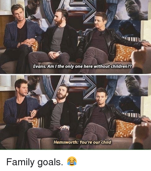 Amith: Evans Amithe only one here without children??  Hemsworth: You're our child Family goals. 😂