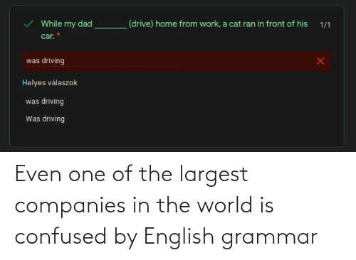 grammar: Even one of the largest companies in the world is confused by English grammar
