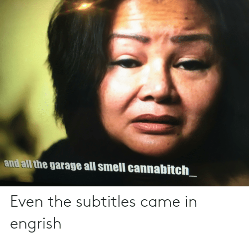 Subtitles: Even the subtitles came in engrish